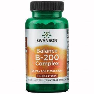 Swanson Balance B-200 Complex, 100 kapsułek wegańskich - zdjęcie produktu