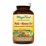 Mega Food, Multi for Women 55 +, organiczne witaminy i minerały dla Kobiet, Quatrefolic, 60 tabletek - miniaturka zdjęcia produktu