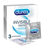 Durex Invisible, prezerwatywy super cienkie, 3 sztuki - miniaturka zdjęcia produktu