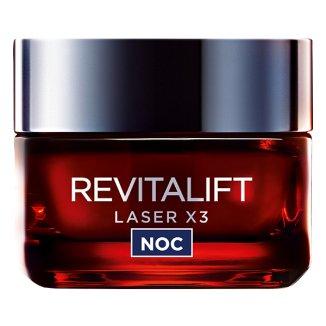 L'Oreal Revitalift Laser X3, krem-maska Anti-age na noc 40 +, 50 ml - zdjęcie produktu