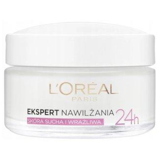 L'Oreal Ekspert Nawilżenia 24h (Triple Active), krem nawilżający na dzień, skóra sucha i wrażliwa, 50 ml - zdjęcie produktu