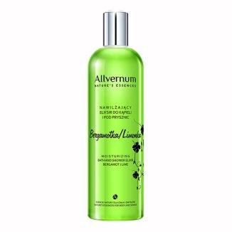Allverne Nature Essences, eliksir nawilżający do kąpieli i pod prysznic, zielona bergamotka i limonka, 500 ml - zdjęcie produktu