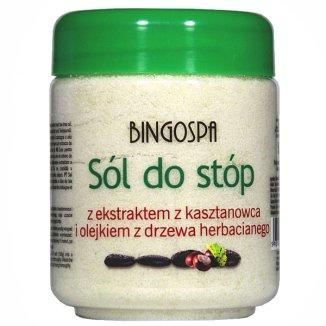 Bingospa, sól do stóp z ekstraktem z kasztanowca i olejkiem z drzewa herbacianego, 550 g - zdjęcie produktu