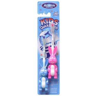 Beauty Formulas, Active Oral Care, szczoteczka do zębów dla dzieci, Kids Quick, królik, 3-6 lat, 2 sztuki - zdjęcie produktu