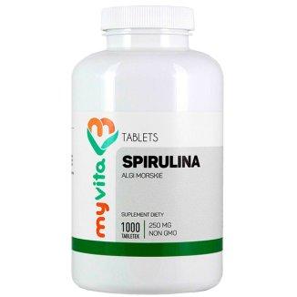 MyVita Spirulina, algi morskie, 1000 tabletek - zdjęcie produktu
