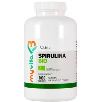 MyVita Spirulina Bio, 1000 tabletek - zdjęcie produktu