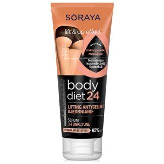 Soraya Body Diet24, serum 3-funkcyjne, ujędrnianie, lifting, antycellulit, 200 ml - zdjęcie produktu