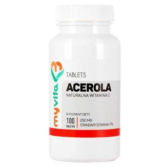 MyVita, Acerola 250 mg, naturalna witamina C, 100 tabletek - zdjęcie produktu