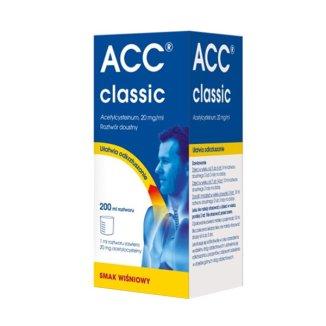 ACC Classic 20 mg/ 1 ml roztwór doustny, smak wiśniowy, od 3 lat, 200 ml - zdjęcie produktu