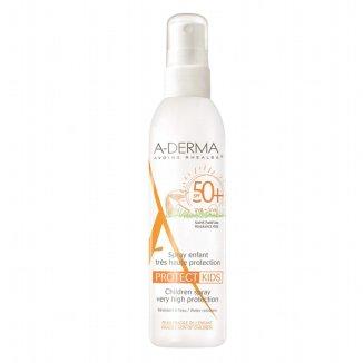 A-Derma Protect Kids, przeciwsłoneczny spray ochronny dla dzieci, SPF50+, 200 ml - zdjęcie produktu