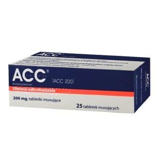 ACC 200 mg, 25 tabletek musujących (import równoległy) - zdjęcie produktu
