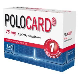 Polocard 75 mg, 120 tabletek dojelitowych - zdjęcie produktu