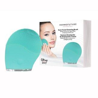 DermoFuture, szczoteczka soniczna do oczyszczania twarzy, zielona, 1 sztuka - zdjęcie produktu