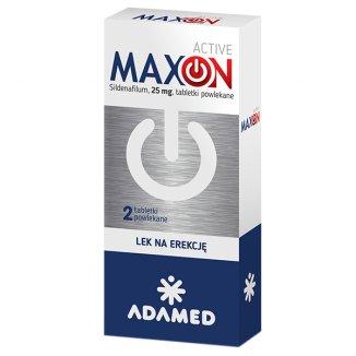 Maxon Active 25 mg, 2 tabletki powlekane - zdjęcie produktu