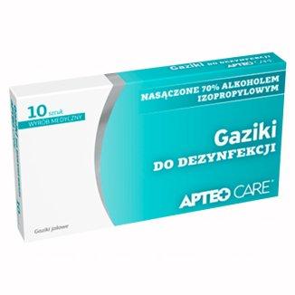 Apteo Care, gaziki do dezynfekcji, 10 sztuk - zdjęcie produktu