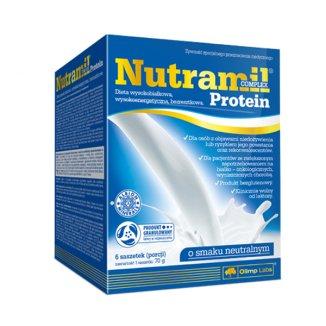 Olimp Nutramil Complex Protein, preparat odżywczy, smak neutralny, 72 g x 6 saszetek - zdjęcie produktu