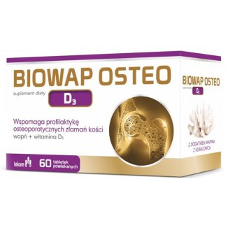 Biowap Osteo D3, 60 tabletek powlekanych - zdjęcie produktu