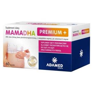 MamaDHA Premium Plus, 60 kapsułek - zdjęcie produktu