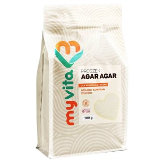 MyVita Agar Agar, roślinny zamiennik żelatyny, 100 g - zdjęcie produktu