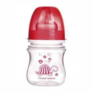 Canpol, butelka szerokootworowa, antykolkowa EasyStart, Kolorowe Zwierzęta, 3-6 miesiąca, 120 ml - zdjęcie produktu