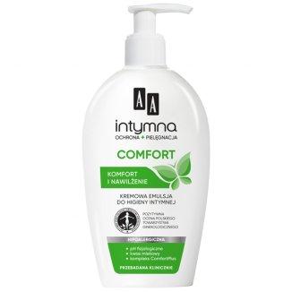 AA Intymna Comfort, emulsja kremowa do higieny intymnej, komfort i nawilżenie, 300 ml - zdjęcie produktu