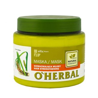 O'Herbal, maska do włosów wzmacniająca z ekstraktem z korzenia tataraku, 500 ml - zdjęcie produktu