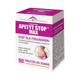 Apetyt Stop Max, smak grejfrutowo-pomarańczowy, 90 tabletek do ssania - zdjęcie produktu