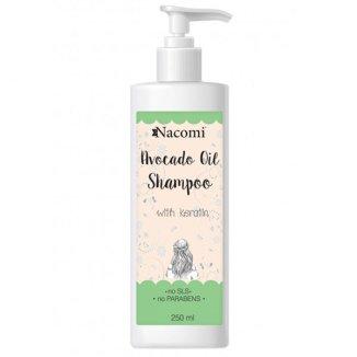 Nacomi, szampon z keratyną i olejem avocado, 250 ml - zdjęcie produktu