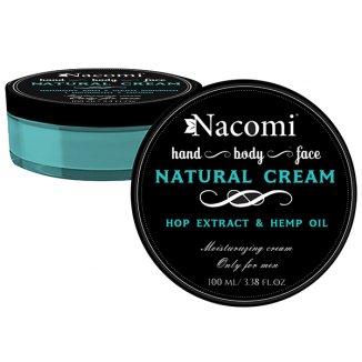 Nacomi Men, krem do twarzy z olejem z konopi i chmielem, 100 ml - zdjęcie produktu