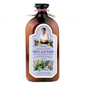 Babuszka Agafia, ziołowy płyn do kąpieli z mydlnicą lekarską, zestaw relaksujący, 500 ml - zdjęcie produktu