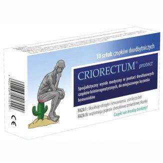Criorectum Protect, czopki doodbytnicze, 10 sztuk - zdjęcie produktu