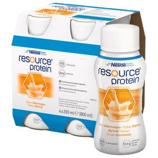 Resource Protein, preparat odżywczy, smak morelowy, 4 x 200 ml - zdjęcie produktu