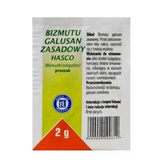 Bizmutu galusan zasadowy Hasco, proszek, 2 g - zdjęcie produktu