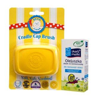 Skarb Matki Olejuszka, olejek na ciemieniuszkę, 30 ml + Bean Clean, szczoteczka na ciemieniuchę - zdjęcie produktu