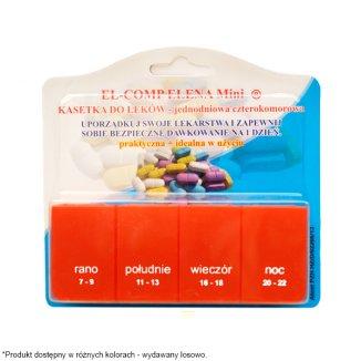 El-Comp Elena Mini, kasetka do leków dzienna, 4-komorowa - zdjęcie produktu