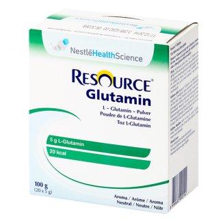Resource Glutamin, preparat aminokwasowy, smak neutralny, 5 g x 20 saszetek - zdjęcie produktu