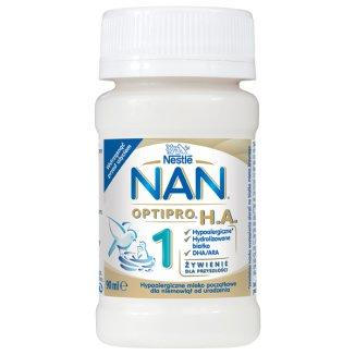 Nestle NAN Optipro H.A. 1, hypoalergiczne mleko początkowe w płynie dla niemowląt od urodzenia, 90 ml - zdjęcie produktu