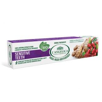 L'Angelica, pasta do zębów Wrażliwe Zęby, goja i żeń-szeń, 75 ml - zdjęcie produktu