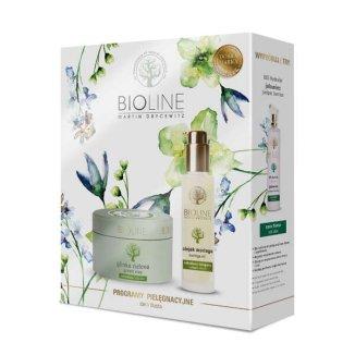 Bioline, glinka zielona, 150 g + olej moringa 100% czysty, 50 ml - zdjęcie produktu