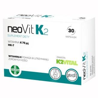 NeoVit K2, witamina K 75 µg, 30 kapsułek - zdjęcie produktu