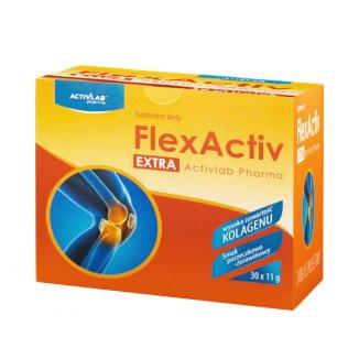 Activlab Pharma FlexActiv Extra, smak porzeczkowo-żurawinowy, 30 saszetek - zdjęcie produktu