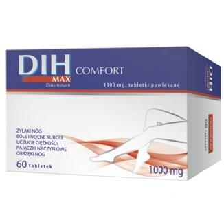 DIH Max Comfort 1000 mg, 60 tabletek powlekanych - zdjęcie produktu