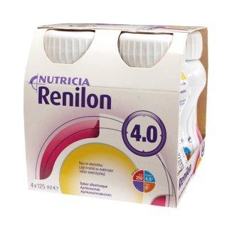 Renilon 4.0, preparat odżywczy, smak morelowy, 4 x 125 ml - zdjęcie produktu
