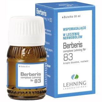 Berberis Complexe Nr 83, krople doustne, roztwór, 30 ml - zdjęcie produktu
