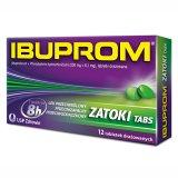 Ibuprom Zatoki Tabs 200 mg + 6,1 mg, 12 tabletek - miniaturka zdjęcia produktu