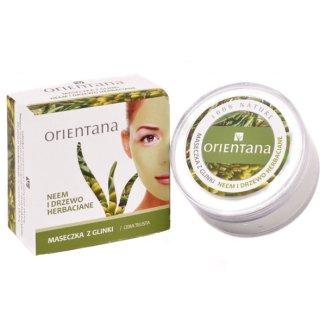 Orientana, maska z glinki, neem i drzewo herbaciane, 50 g - zdjęcie produktu