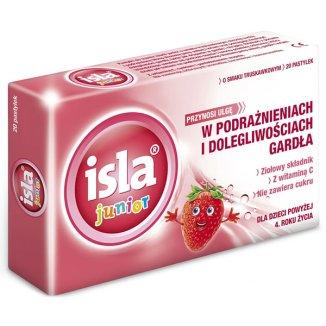 Isla Junior, smak truskawkowy, 20 pastylek - zdjęcie produktu
