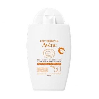 Avene Sun, ochronny fluid mineralny do twarzy skóra wrażliwa, SPF50, 40 ml - zdjęcie produktu