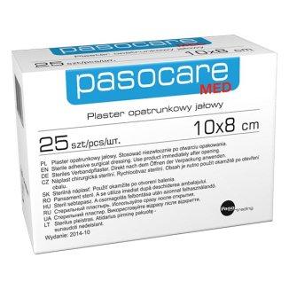 Pasocare Med, plaster opatrunkowy, jałowy, 10 cm x 8 cm, 1 sztuka - zdjęcie produktu