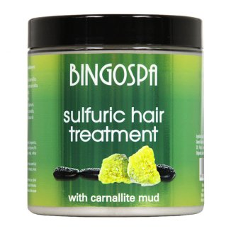 Bingospa, siarkowa kuracja do włosów z błotem karnalitowym, 250 g - zdjęcie produktu